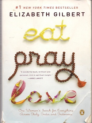 Eat pray love travel book