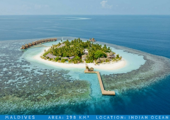 maldives smallest countries