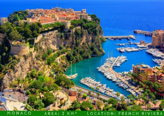 monaco smallest countries