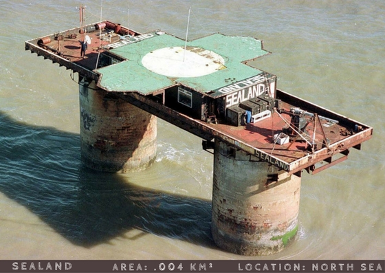Principality of sealand smallest countries