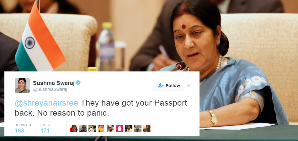 Sushma Swaraj and Suresh Prabhu helping indians on twitter