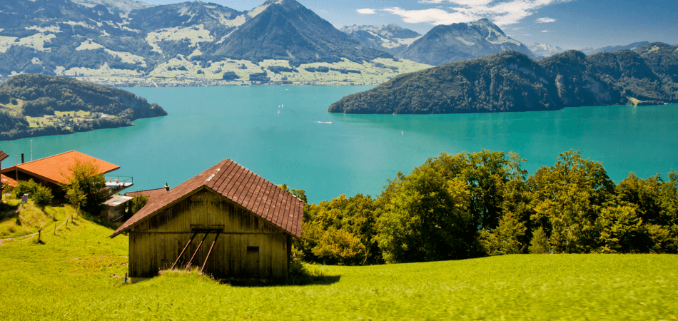 Lake and Lucerne City, Switzerland