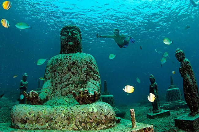 Pemuteran hidden underwater temple