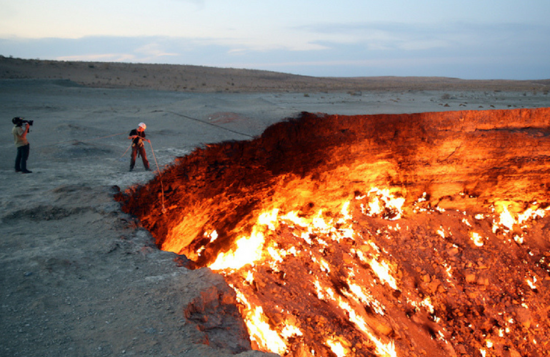 natural gas crater turkmenistan